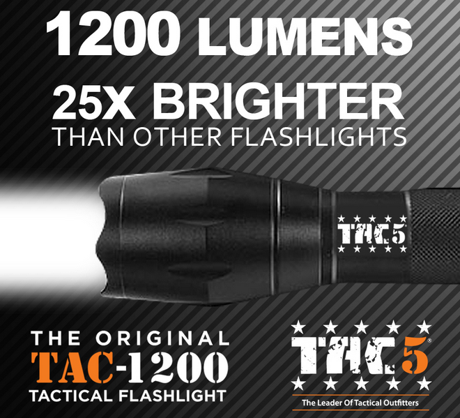 second brightest tactical flashlight