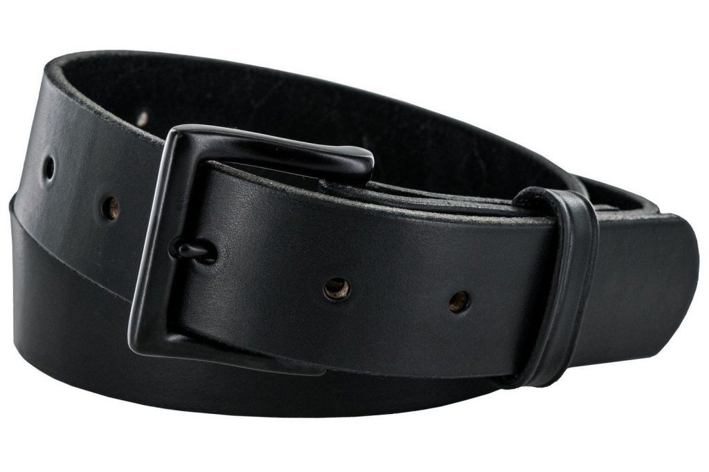 Hanks Everyday - No Break Thick Leather Belt - Mens Heavy Duty Belts